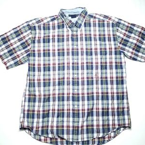 Tommy Hilfiger Plaid Striped Button Down